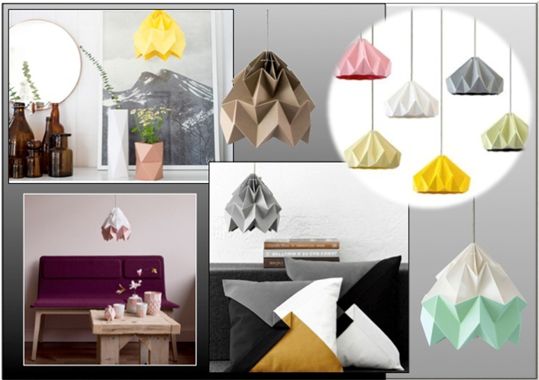 Moth Paper Origami Lamp Shades