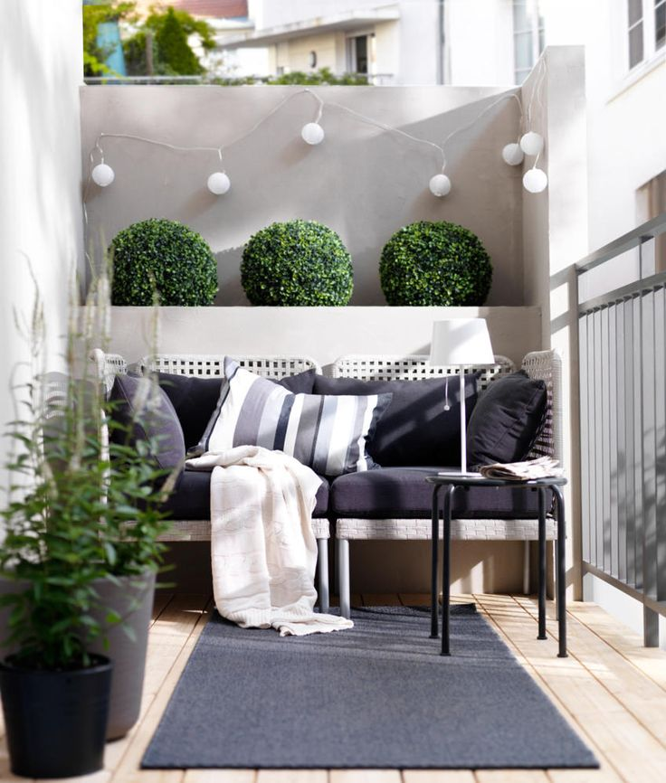 Styling a small balcony international institute of home for Terrasse balcon decoration