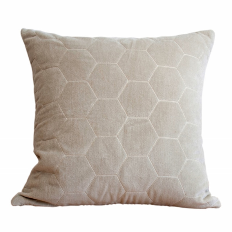 Our Favourite - velvet luxe in hexagon pattern cushion