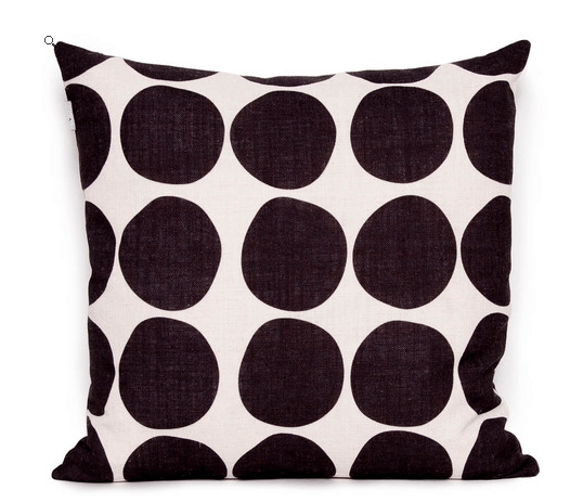 Our favourite - marbles black cushion
