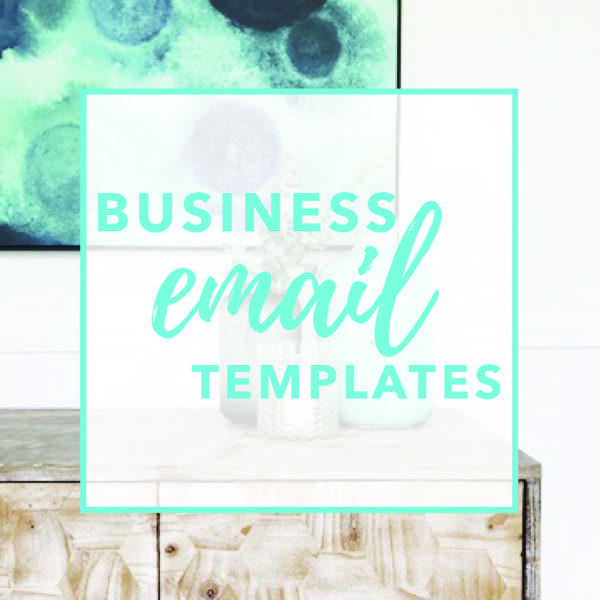 Business Email Templates